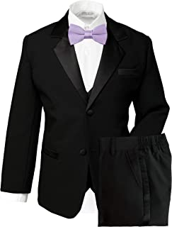 4Colors Infant Toddler Boy Adjustable Satin Bowtie Burgundy formal tuxedo /& suit