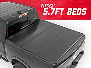 Rough Country Hard Tri-Fold (fits) 2009-2018 RAM Truck 5.7 FT Bed No RamBox Truck Tonneau Cover 45309550