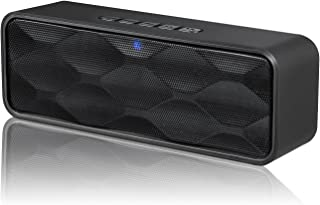 ZoeeTree S1 Wireless Bluetooth Speaker, Outdoor Portable Stereo Speaker with HD Audio and Enhanced Bass, Built-in Dual Dri...