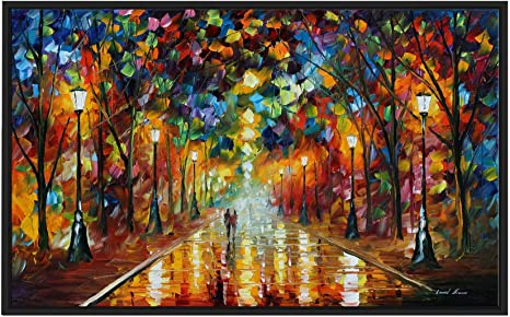 Amazon Com Picture Perfect International Farewell To Anger By Leonid Afremov Print On Canvas Colorful Art 21 5 H X 33 5 W X 2 D Orange Home Kitchen