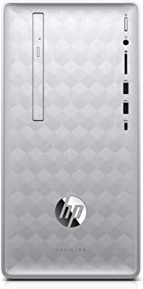 HP-PC Pavilion 590-p0004nl Desktop PC, AMD A10-9700, 12 GB di RAM, HDD da 1 TB, Grafica AMD Radeon RX 550 (2 GB di GDDR5 Dedicata), Argento Naturale