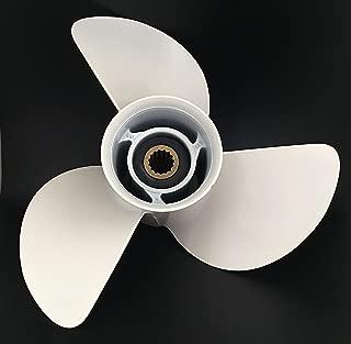 ITACO Boat motor 6E5-45947-00-EL Boat Motor Aluminum Alloy Propeller 13 1/2x15-K for Yamaha 60HP 70HP 75HP 80HP 85HP 90HP 115HP 130HP Outboard