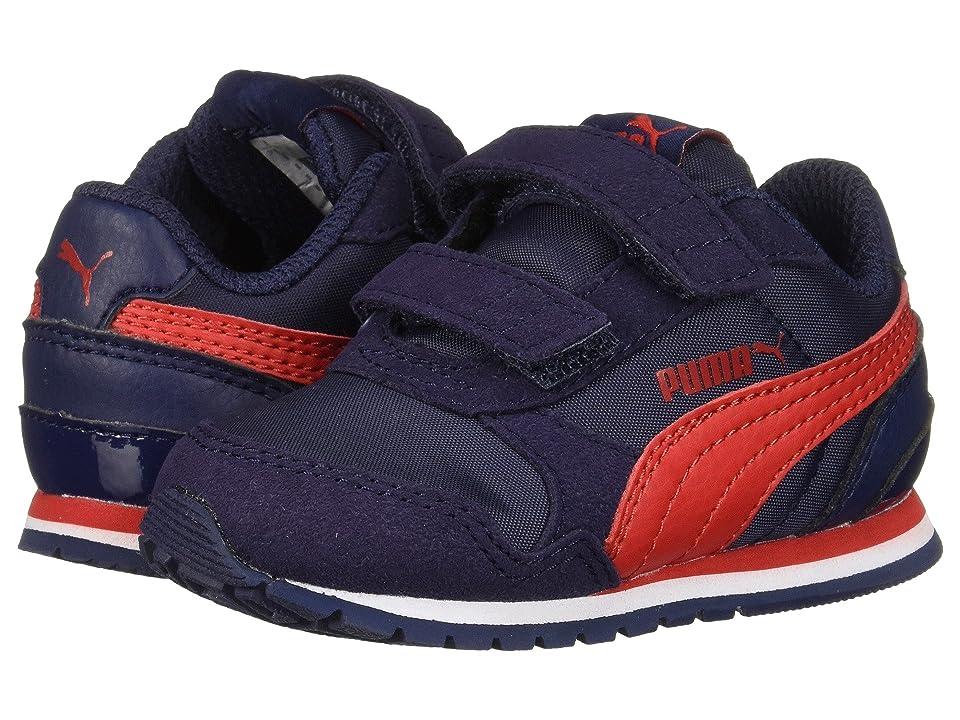 Puma Kids ST Runner v2 NL V (Toddler) (Peacoat/Ribbon Red) Boys Shoes