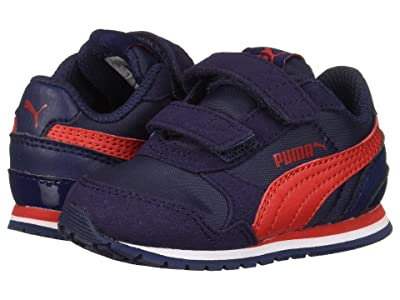 Puma Kids ST Runner v2 NL V (Toddler) (Peacoat/Ribbon Red) Boys Shoes