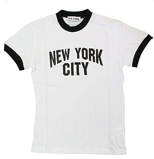 New York City Kids John Lennon Ringer NYC Boys Beatles T-Shirt White
