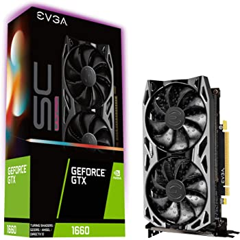 EVGA GeForce GTX 1660 SC Ultra Gaming, 06G-P4-1067-KR, 6GB GDDR5, Dual Fan