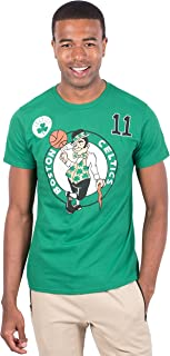 Ultra Game Men's NBA Player Name And Number S/S Cttn T, Boston Celtics, Team Color, Large