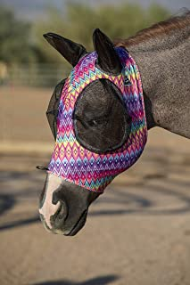Professional's Choice Comfort Fit Lycra Horse Equine Fly Mask Mesh Ears