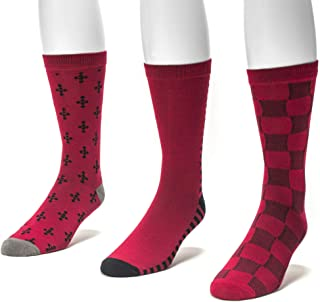Muk Luks Men's 3 Pack Crew Socks