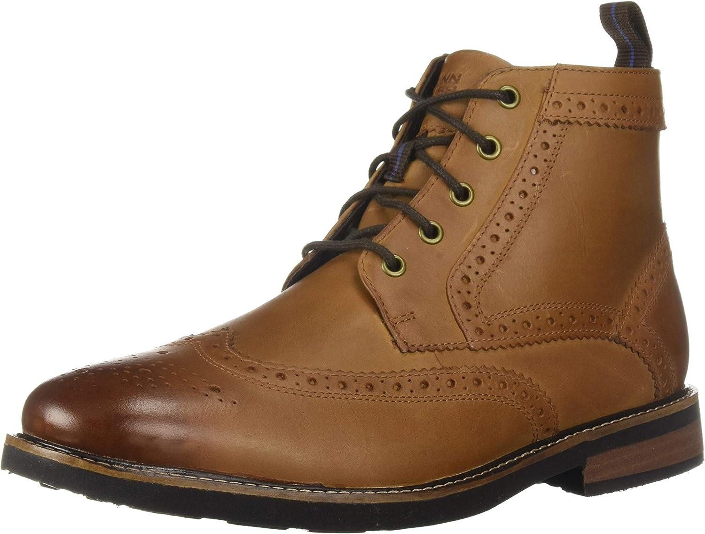 Nunn Bush Men Odell Wingtip Chukka Boot with KORE Comfort Walking Technology Oxford, Tan Ch, 8
