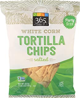 365 Everyday Value, White Corn Tortilla Chips, Salted, 20 oz