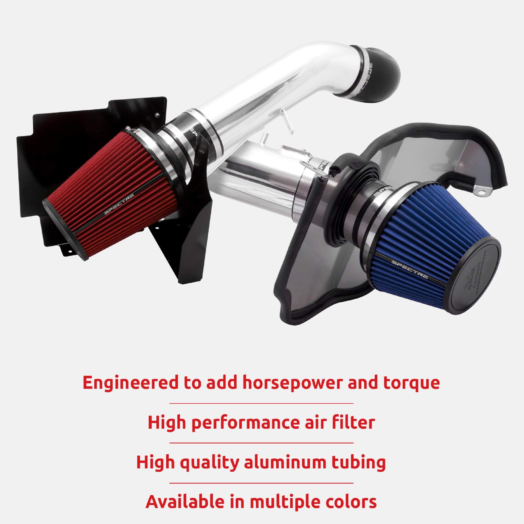 Spectre Performance Air Intake Kit: High Performance, Desgined to Increase Horsepower: Fits 1999-2007 CHEVROLET/GMC/CADILLAC (Silverado, Avalanche, Suburban, Tahoe, Sierra, Yukon, Escalade) SPE-9900