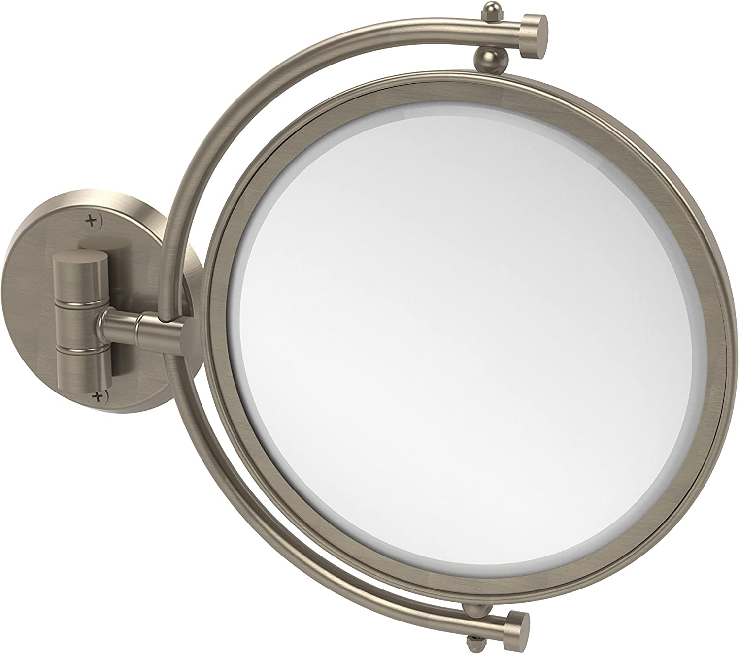 Allied Brass WM-4 2X-Pew 8-Inch Mirror with 2X Magnification Extends 7-Inch, Antique Pewter