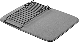 "AmazonBasics Drying Rack and Mat - 16"" x 18"" - Charcoal & Black"