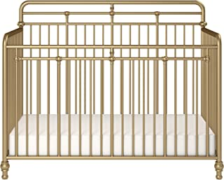 Little Seeds Monarch Hill Hawken 3 in 1 Convertible Metal Crib, Gold