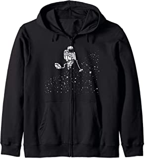 Astronaut Vacuuming Stars Space Dust Spaceman Zip Hoodie