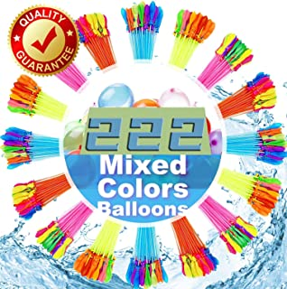 Vlony Water Balloons for Kids Girls Boys Balloons Set Party Games Quick Fill 222 Balloons for Swimming Pool Outdoor Summer...