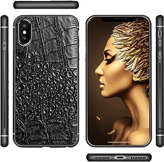 Bitstar - iPhone X Case Shockproof Case Croc Skin Theme | Black