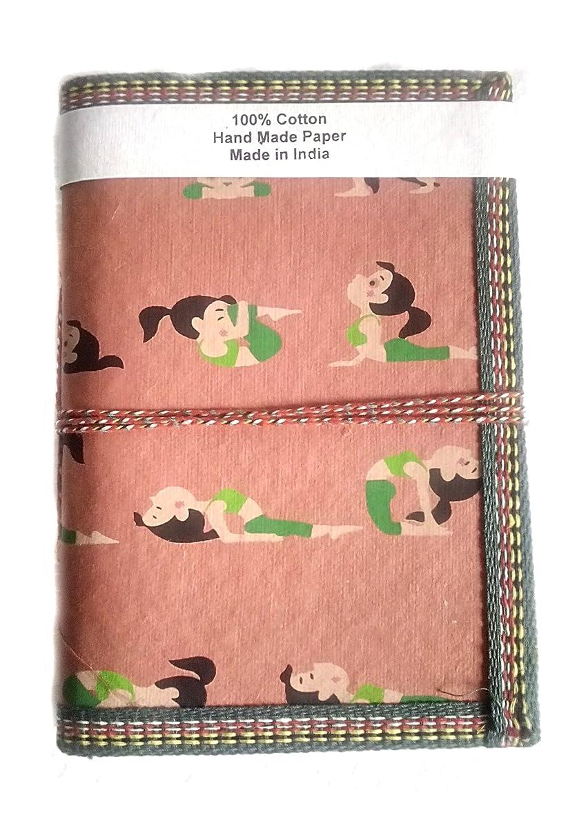 メンター観客アルミニウムGift Hand Made Paper Yoga Printed Girl Yellow Elegant Diary Blank Diaries POCKET PLANNER Christmas Gift for Men & Women Traditional DIARY