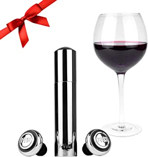 Modern Wine Preserver by St. Vine   Vacuum Wine Pump, Wine Saver with 2 Reusable Bottle Stoppers