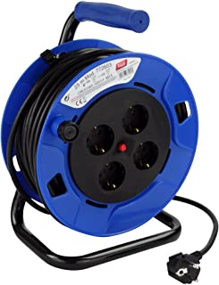 comprar comparacion Tayg- Extensible Eléctrico, Azul y Negro, 25 m