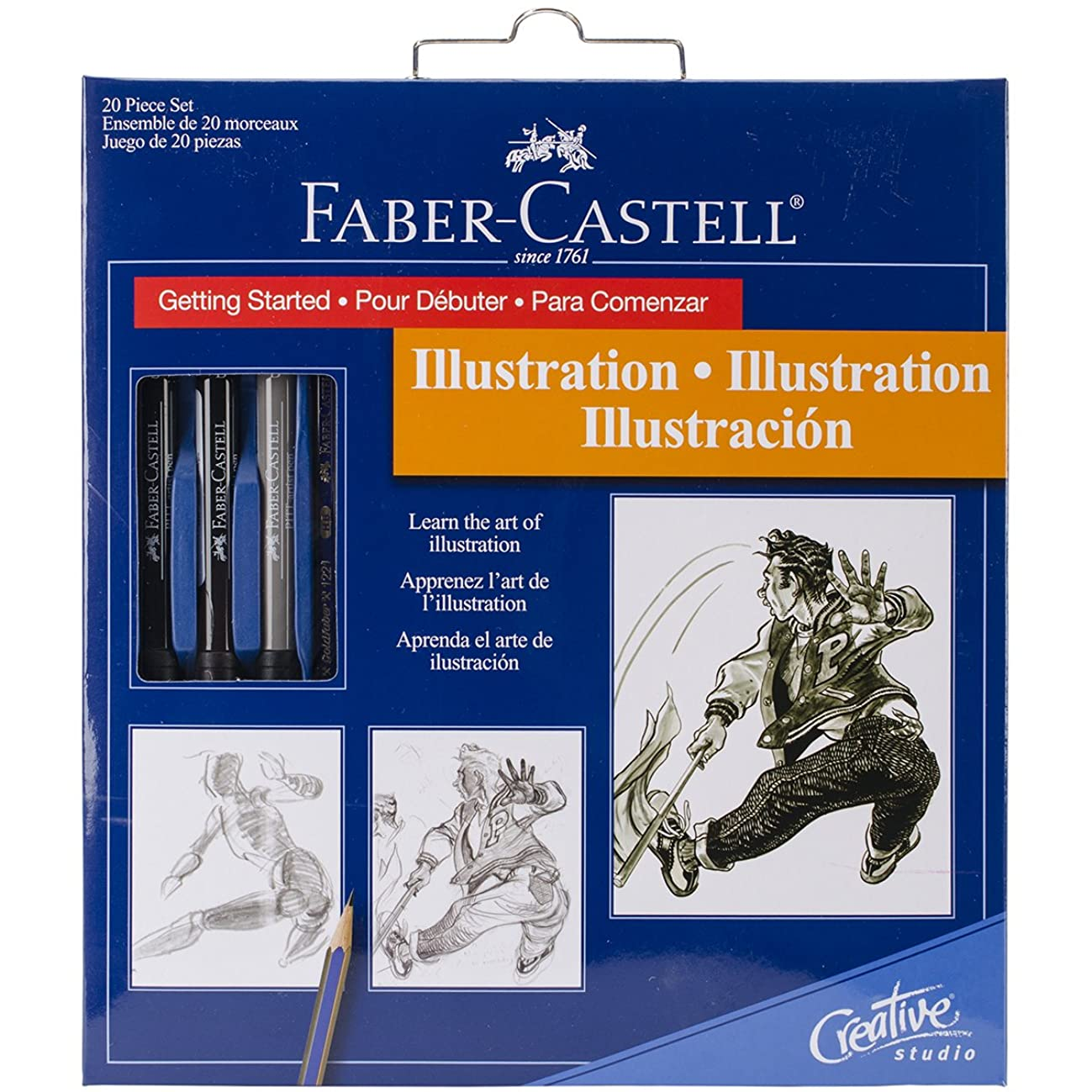 Illustration Set With Instructions and Tools To Learn Artist Drawing Basics