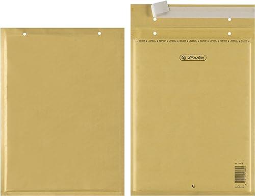 Herlitz 793604 Pack de 10 enveloppes matelassées G/7 Trifix (Marron) (Import Allemagne)