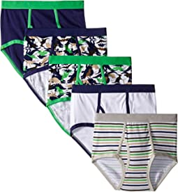 Trimfit - Dino Camo Cotton Briefs 5-Pack (Toddler/Little Kids/Big Kids)