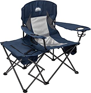 Coastrail Outdoor Folding Camping Chairs with Cooler Table Side Bag, Heavy Duty Steel 300 LBS Capacity for Adults Portable...