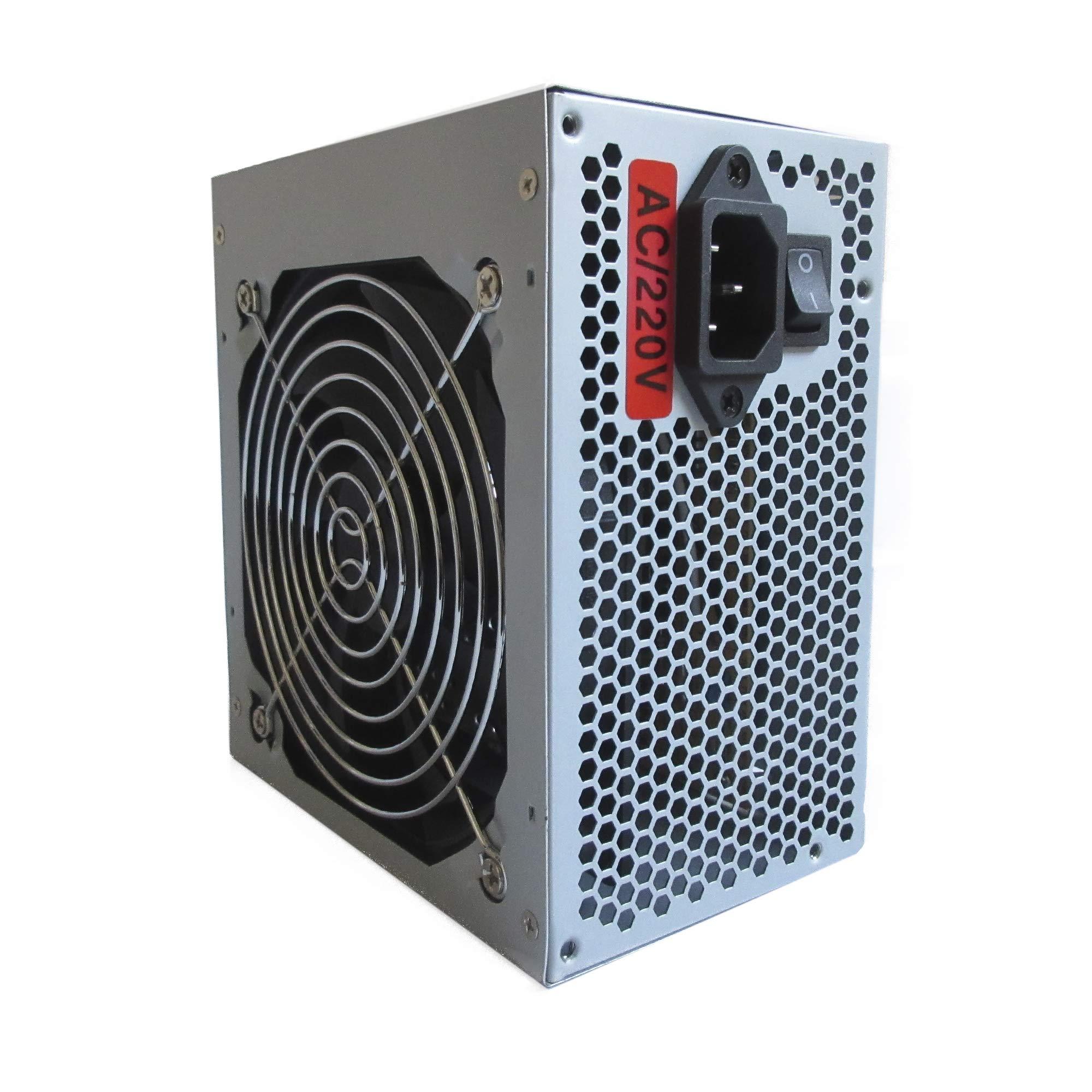 Hiditec SX 500W - Fuente de alimentación (500 W, 115-230 V, 50-60 Hz, ATX, 2 conectores SATA, 2 conectores MOLEX, Ventilador silencioso de 120mm) negro: Amazon.es: Informática