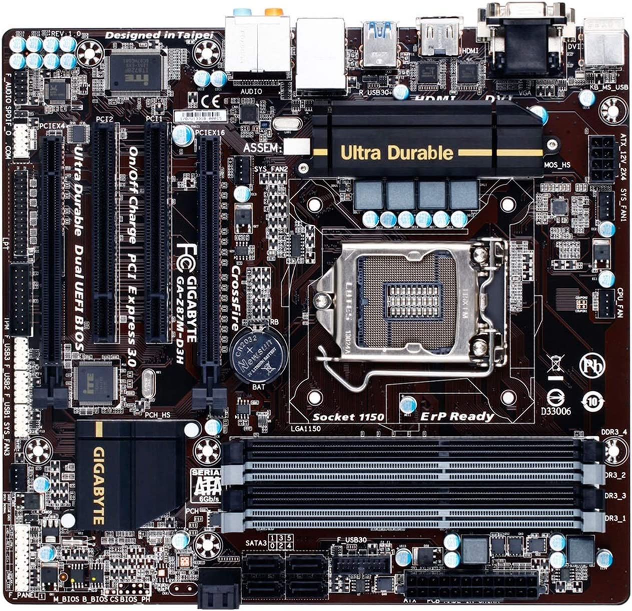 XLL Spring Max 61% OFF new work Computer Motherboard Fit for GA-H87M-D3 Gigabyte