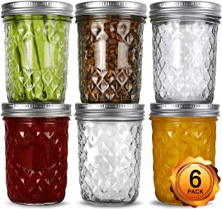 Wide Mouth Mason Jars 16oz, VERONES 6 Pack 16 oz Wide Mouth Mason Jars with Lids and Bands, Ideal for Jam, Honey, Wedding ...