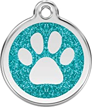 Red Dingo Personalized Glitter Paw Pet ID Dog Tag