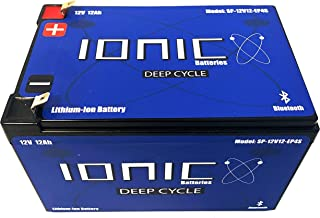 Lithium Ion Deep Cycle Battery 12V 12Ah - Ionic 12V12-EP - Built in Bluetooth Monitoring - 5 Year Warranty