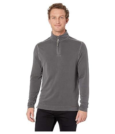 True Grit Lightweight Super Soft Stretch Tencel 1/4 Zip Pullover (Carbon) Men