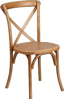 Flash Furniture HERCULES Series Stackable Oak Wood Cross Back Chair