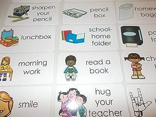 15 Laminated Kindergarten Routine Flashcards.