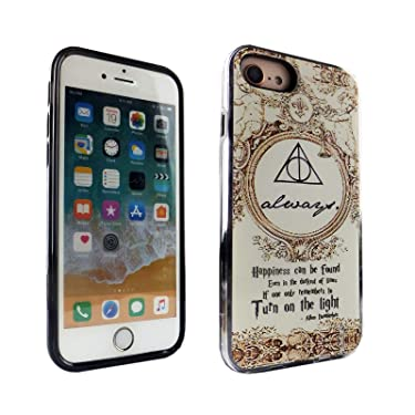iPhone 6S 7 8 CASEMPIRE Master of Death Symbol Hybrid Case Shock Proof Never Fade Slim Fit Cover for IP 6S 7 8 Dumbledore Quotes Happiness Can Be Found