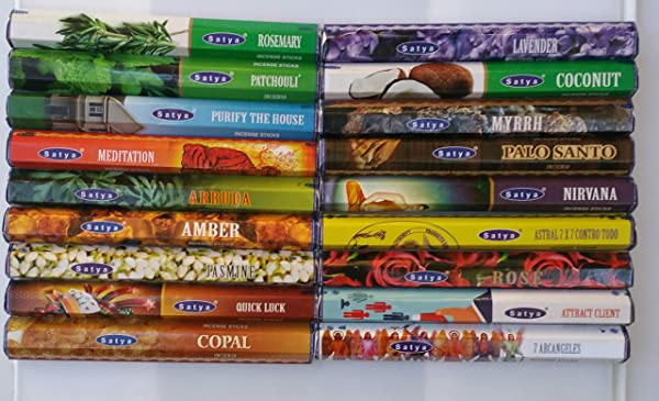 The Better Scents Satya Incense Variety Sampler Set 18 Varieties 20 Sticks Each For Total Of 360 Sticks Great Selection And Great Value