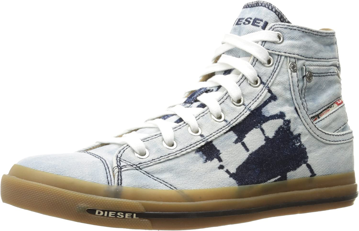 Diesel Men's Magnete Exposure I Fashion Sneaker, Indigo, 12 M US