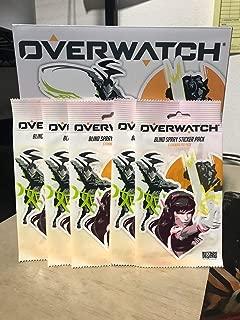 Overwatch Blizzard D.va Mercy Reaper Sombra Genji 25 Stickers Pack Licensed 5X