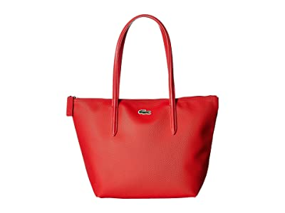 Lacoste L.12.12 Concept Small Shopping Bag (High Risk Red) Handbags