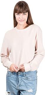 Women's Fleece Crew Sweatshirt Oversized Crop Top