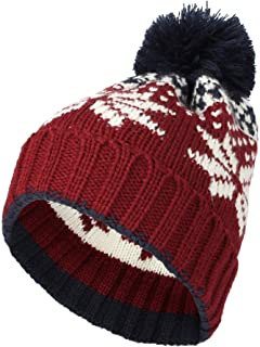 WITHMOONS Knit US Canada Flag Union Jack Pom Beanie Hat JZP0027