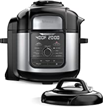 Ninja FD401 Foodi 8-qt. 9-in-1 Deluxe XL Cooker & Air Fryer-Stainless Steel Pressure..