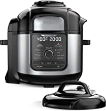 Ninja FD401 Foodi 8-Quart 9-in-1 Deluxe XL Pressure Cooker, Broil, Dehydrate, Slow Cook, Air Fryer, and More, with a Stain...