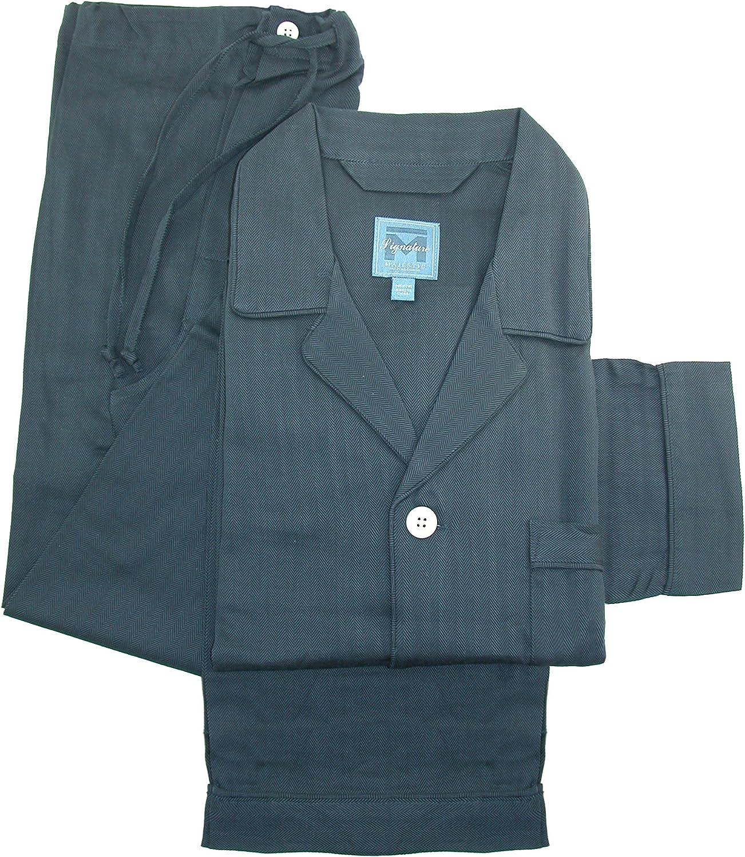Majestic International Challenge the lowest price of Over item handling Japan ☆ Men's Herringbone Long Set Pajama Sleeve