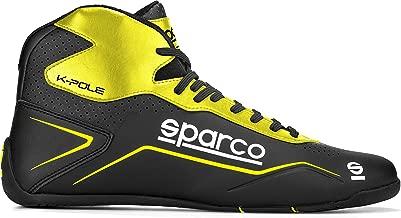 SPARCO(スパルコ)レーシングシューズ K-POLE(ケーポール) ブラック×イエロー (EU35 (21.8-22.3cm))