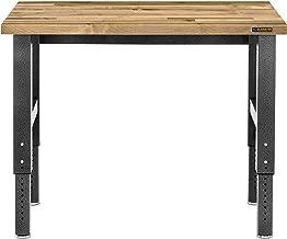 Gladiator GAWB04HWEG Adjustable Height Hardwood Workbench, 4'