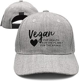Unisex Vegan AF Logo Black Caps Street Dancing Flat Brim Trucker Hat